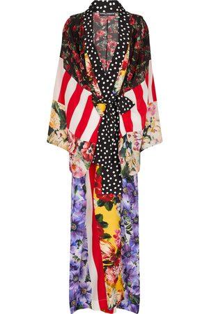Dolce & Gabbana Printed silk crêpe robe