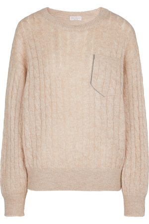Brunello Cucinelli Cable-knit mohair and wool-blend sweater