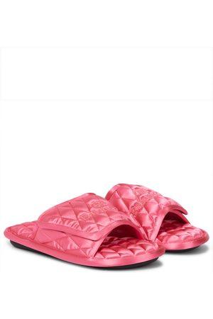 Balenciaga Home quilted satin slides