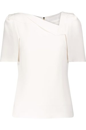 Roland Mouret Lynn stretch-crêpe top