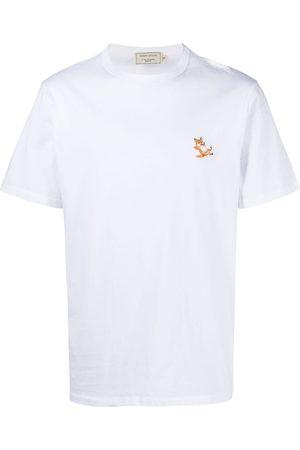 Maison Kitsuné T-shirt med logodetalje