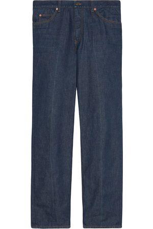 Gucci Mænd Straight - Jeans med økologisk vask og lige ben