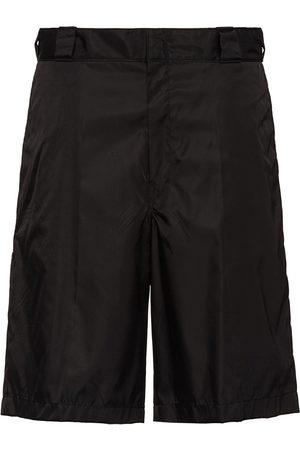 Prada Re-Nylon logo plaque shorts
