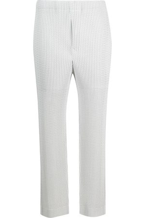 HOMME PLISSÉ ISSEY MIYAKE Mænd Habitbukser - Knitted slim-fit trousers
