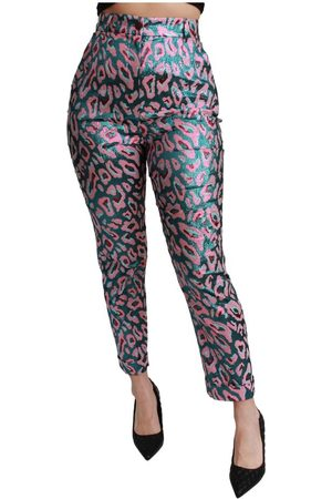 Dolce & Gabbana Patterned Cropped High Waist Pants