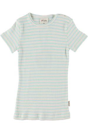 Petit Piao Kortærmede - T-shirt - Modal Striped - Starlight Blue/Eggnog