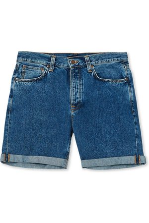 Nudie Jeans Mænd Shorts - Josh Stretch Denim Shorts Friendly Blue