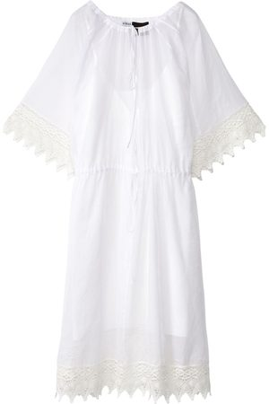 Loewe Sheer Cotton Organdy & Macramé Dress