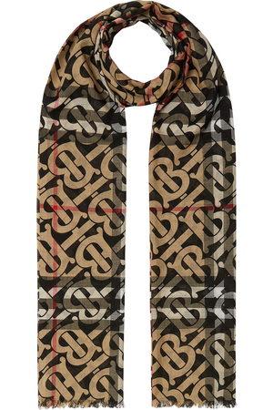Burberry Tørklæder - Ternet tørklæde med monogram