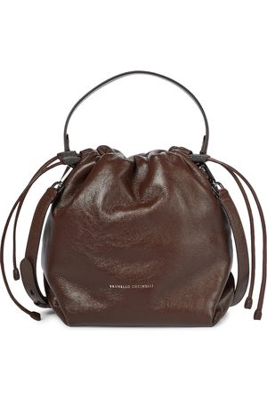 Brunello Cucinelli Kvinder Stofposer - Leather bucket bag