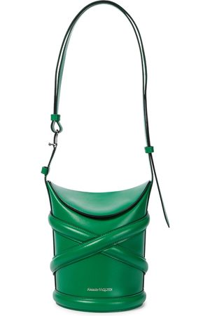 Alexander McQueen Curve Small leather bucket bag