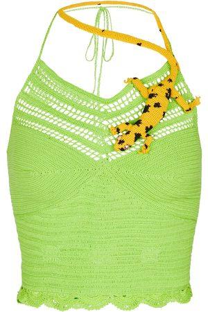 Loewe Kvinder Toppe - Paula's Ibiza embellished crochet top