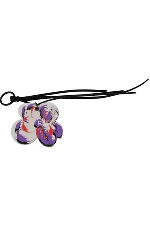 Costume National Leather Butterfly Logo Keyring C'N'C Keychain