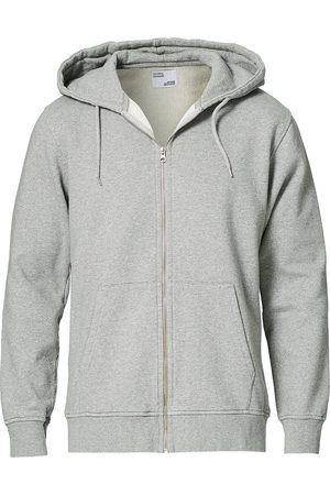 Colorful Standard Mænd Trøjer - Classic Organic Full Zip Hood Heather Grey