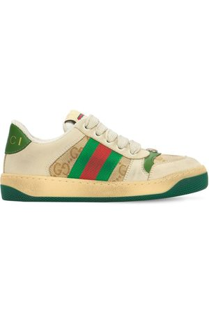 Gucci Gg Canvas Sneakers W/ Web Detail