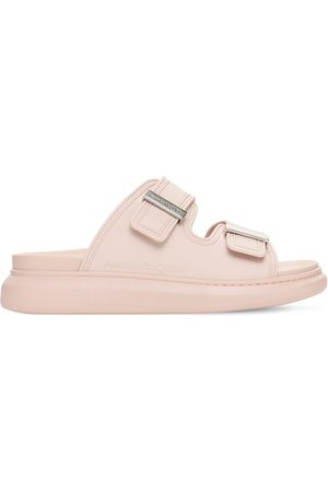 Alexander McQueen 50mm Rubber Slide Sandals