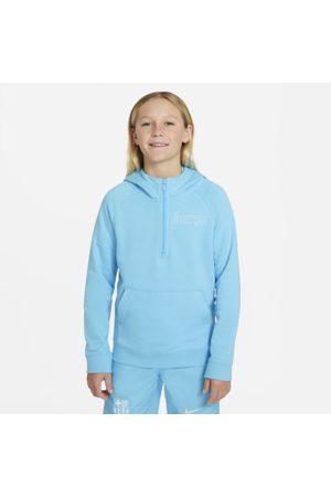 Nike Sportswear FC Barcelona-hættetrøje med 1/2 lynlås til større børn