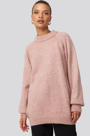 NA-KD Kvinder Strik - Raglan Sleeve Knitted Sweater