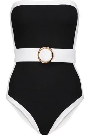 ALEXANDRA MIRO Whitney belted swimsuit