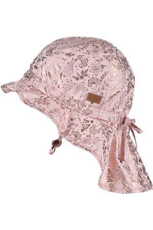 Melton Hatte - Sommerhat - UV50+ - Rosa m. Guldprint