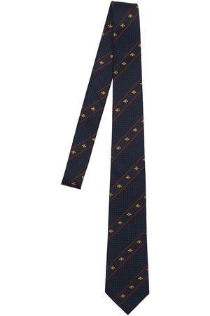 Gucci 7cm Bee Web Silk Tie