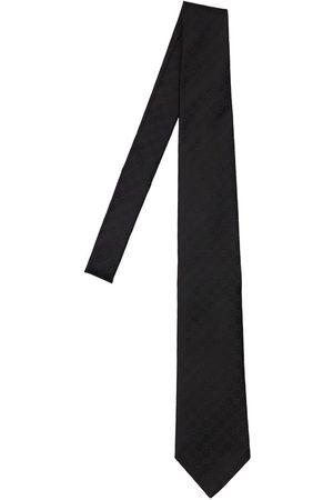 Gucci 8cm Gg Pattern Silk Tie
