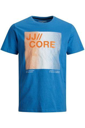 JACK & JONES Mænd Kortærmede - Slim Fit Logo Print T-shirt Mænd