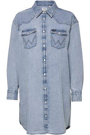Wrangler Kvinder Casual kjoler - Denim Western Dress Dresses Shirt Dresses
