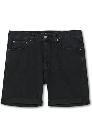 Nudie Jeans Mænd Shorts - Josh Stretch Denim Shorts Black Water