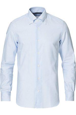 MAZZARELLI Mænd Business skjorter - Soft Oxford Button Down Shirt Blue Stripe