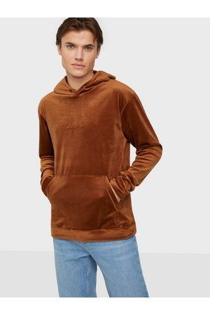 Ciszere Mænd Sweatshirts - Sami velour hoodie - With logo Trøjer Orange