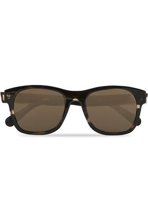 Moncler Lunettes Mænd Solbriller - ML0192 Sunglasses Shiny Dark Brown/Roviex Mirror