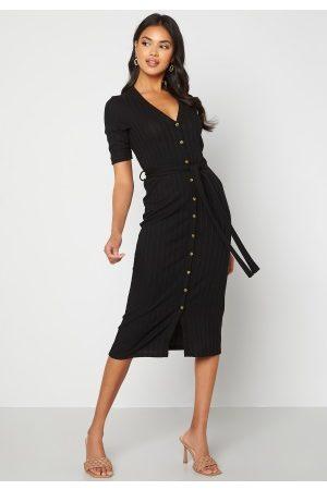 Happy Holly Kvinder Strikkede kjoler - Sandie knitted dress Black 36/38