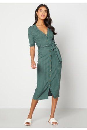 Happy Holly Kvinder Strikkede kjoler - Sandie knitted dress Green 32/34