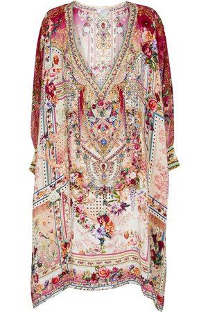 Camilla Kvinder Kimonos - Exclusive to Mytheresa – Floral embellished silk kaftan