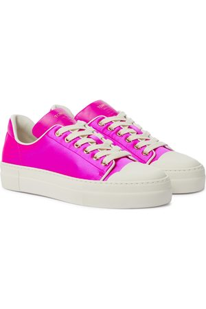 Tom Ford Kvinder Sneakers - City satin and leather sneakers