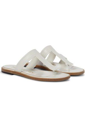 Tom Ford Kvinder Sandaler - Leather thong sandals