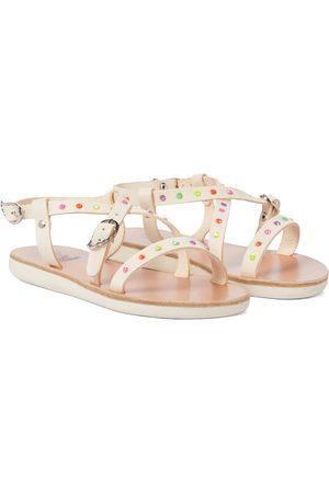 Ancient Greek Sandals Piger Sandaler - Little Sofia Crystals leather sandals