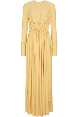 Victoria Beckham Cut-out ruched maxi dress