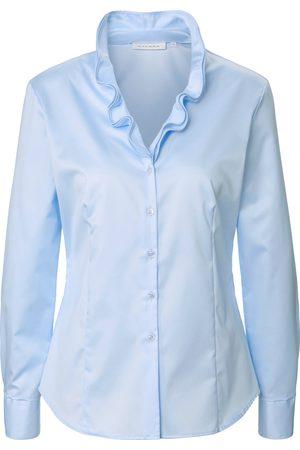 ETERNA Kvinder Casual skjorter - Skjorte i 100% bomuld Fra blå