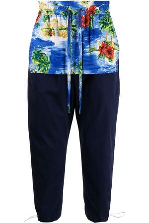 JUST IN XX Joggingbukser med Hawaii-tryk