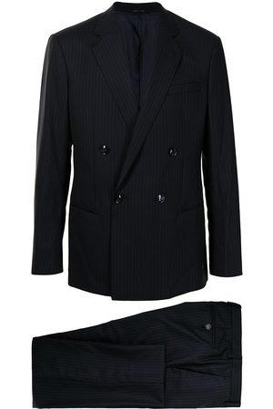 Armani Mænd Blazere - Dobbeltradet jakkesæt med striber