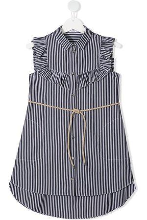 Brunello Cucinelli Piger Langærmede skjorter - Skjortekjole med flæsekrave