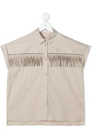 Brunello Cucinelli Piger Sweatshirts - Fringe-trim shirt