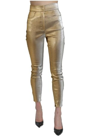 Dolce & Gabbana High Waist Skinny Cropped Pants