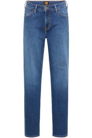 Lee Marion straight mid worn denim jeans