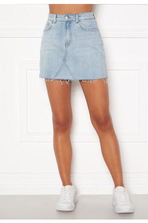 BUBBLEROOM Laney denim skirt Light denim 40