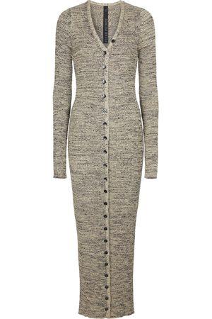 PETAR PETROV Erica ribbed-knit silk maxi dress