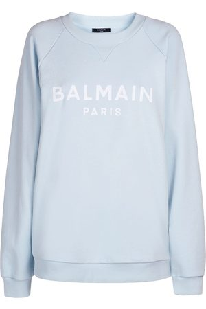 Balmain Logo Printed Cotton Sweatshirt