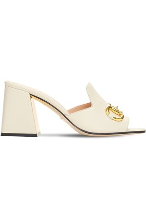 Gucci 75mm Baby Leather Mules W/ Horsebit